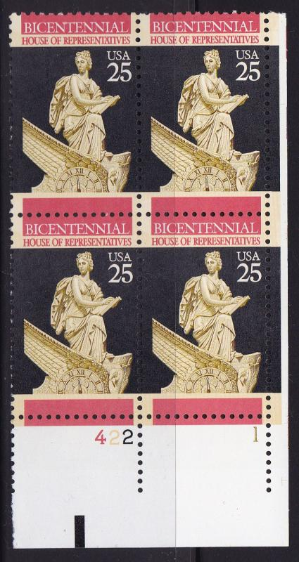 United States 1989 Constitution Bicentennial- House Plate Number Block VF/NH