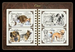 HERRICKSTAMP NEW ISSUES ST. THOMAS Dogs Sheetlet