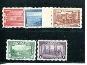 Canada #241-45  Mint  VF NH - Lakeshore Philatelics