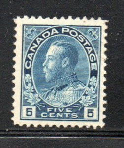 Canada Sc 111 1912 5 c dark blue G V Admiral issue stamp mint
