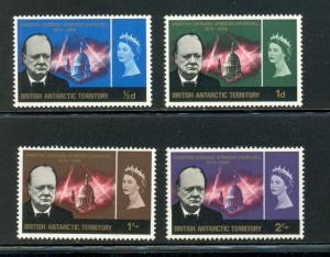 British Antarctic Territory 16 to 19 complete set - mvlh Churchill- Elizabeth II