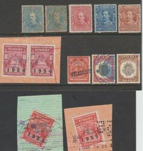 Costa Rica revenue fiscal Mix cinderella collection stamp ml217