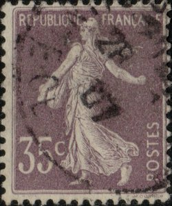 FRANCE - Yv.136a - 35c violet Semeuse chiffres maigres type I - Oblitéré TB