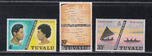 Tuvalu # 16-18, Separation of Gilbert & Ellice Islands, LH, 1/3 Cat.