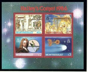 Montserrat 613 MNH 1986 Haleys Comet S/S