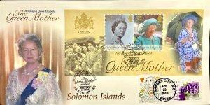 Hideaki Nakano Queen Mother Solomon Islands with US Queen Hearts & Love Violets