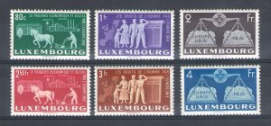 1951 Luxembourg, Luxembourg, N° 443/448 For A Europa Plain - Council Of UK