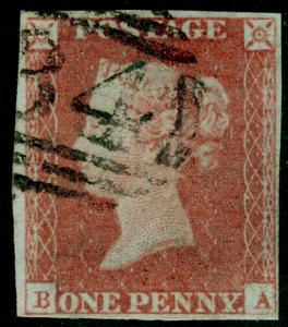 SG8, 1d red-brown PLATE 76, USED. Cat £30. BA