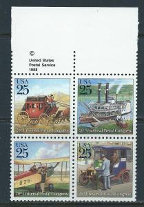 UNITED STATES SC# 2437a VF MNH 1989 CPYRT BK/4