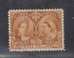 Canada #63 Extra Fine Used Gem With Light Purple CDS Cancel **With Cert.**