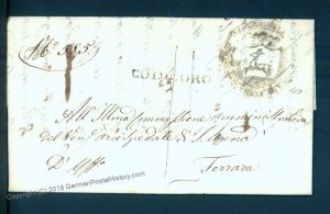 Italy 1849 Codigoro Disinfected Cholera Pest Cover Ferrara 93348