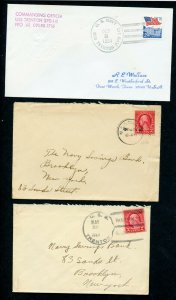 US TRENTON (SSN-770) LOT OF 8 DIFFERENT COVERS 1927-1995 AS SHOWN (39)