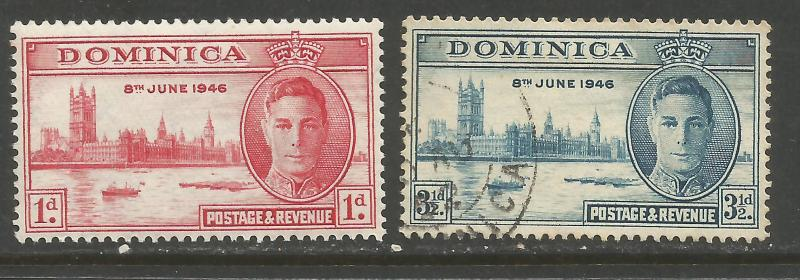 DOMINICA 112-3 VFU/NH PEACE ISSUE Z5539-3