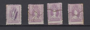 Queensland QV 1d Chalon Stamp Duty x 4 Fine Used JK6328