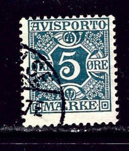 Denmark P2 Used 1909 Newspaper Stamp