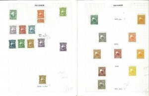 (El) Salvador 1891-1969 M & U (mostly) Hinged on a mix of Remaindered Pages