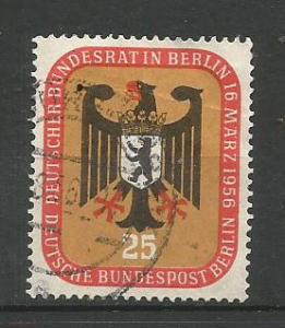 BERLIN, 1956, used 25pf Arms of Berlin Scott 9N119