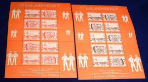 15th ASDA National Postage Stamp Show Exhibition 1963 New York Souvenir Sheets