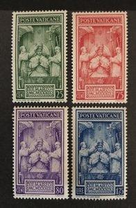 Vatican City 1939 #68-71, MNH, CV $12.90