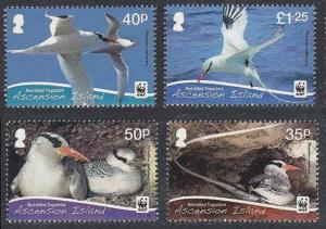 Ascension WWF Red-billed Tropicbird 4v Without white border SG#1155-58