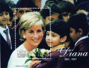 Uruguay 1998 Diana Princess-Flowers  SS (1) MNH Sc.B12