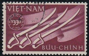 Viet Nam # B2, Sabers & Flag, Used, 1/2 Cat.