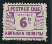 Northern Rhodesia  SG D9 SC# J9 MNH Postage Due 1963 - see details
