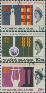 Pitcairn Islands 1966 SG61-63 UNESCO set FU