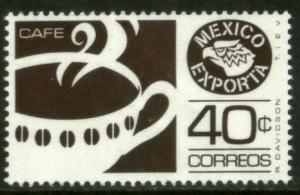 MEXICO EXPORTA 1111, 40cts. COFFEE PAPER 1, DARK BROWN. MINT, NH. F-VF.