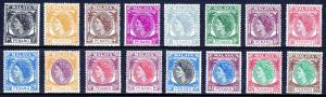 MALAYA (PENANG) — SCOTT 29-44 (SG 28-43) — 1954-55 QEII SET — MH — SCV $73.60