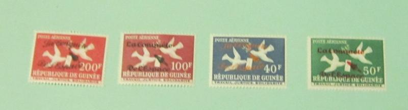 Guinea - C35-38, MNH Set. Space Ovpts. SCV - $4.95