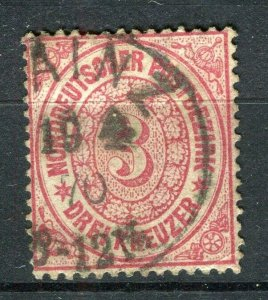 GERMANY; NORTHERN CONFED. (S) 1869 early classic used 3k. value