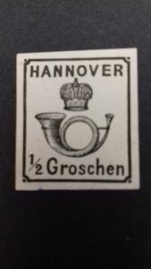 Hanover Coach Horn 1860 1/2 Groschen Unused