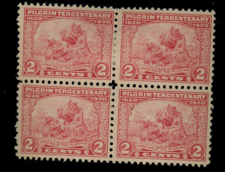 549 MINT Block F-VF OG Top HR Bottom NH Cat$26