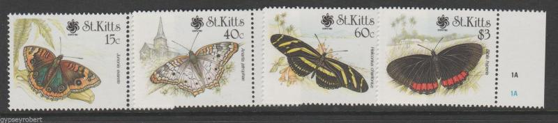ST KITTS   BUTTERFLIES  1990    COMPLETE SET