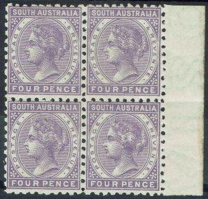SOUTH AUSTRALIA 1883 QV 4D BLOCK */** PERF 10