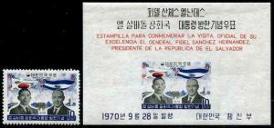 HERRICKSTAMP KOREA Sc.# 728-28A Salvador Stamp Set & S/S