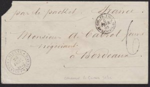 FRENCH GUIANA 1838 cover with cds CAYENNE GUYANE FRANCAISE..................6669