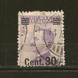 Italy 154 Surcharged Used