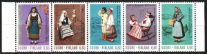 Finland. 1973. 733-37. Folk costumes. MNH.