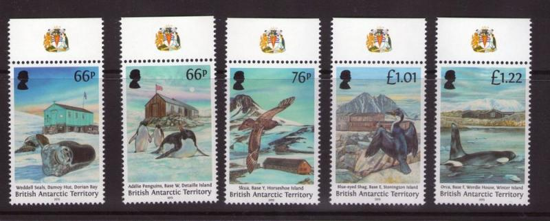 British Antarctic Territory Historic Huts issued 17-11-15 Marginal MNH