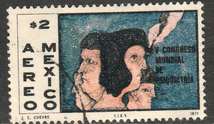 MEXICO C392 Congress of Psychiatry, painting. Used. VF. (37)
