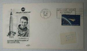 Welcome Home Wally Mercury Project Astronaut 1962 Orbit Cachet Spcae Cover NJ