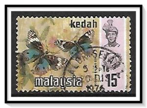 Kedah #118 Sultan & Butterflies Used