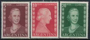 Argentina #615-7*  CV $30.25  Eva Peron
