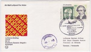 Germany - Venezuela 1977, Lufthansa First Flight, Frankfurt to Caracas with DC10