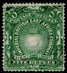BRITISH EAST AFRICA Sg19, 5r Grey Green, FINE USED. Cat £75.