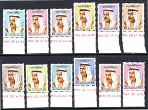 KUWAIT 462-473 MNH SHORT SET SCV $21.15 BIN $10.60 POLITICS