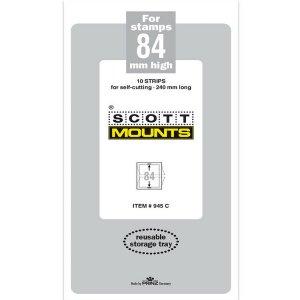 Scott/Prinz Pre-Cut Strips 240mm Long Stamp Mounts 240x84 #945 Clear