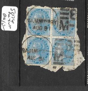 INDIA    (P0307B) QV 1/2A SG 76  BL OF 4 SON CDS    VFU